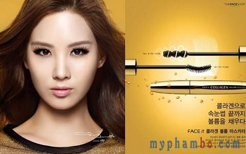 chuốt mi Mascara collagen the face shop