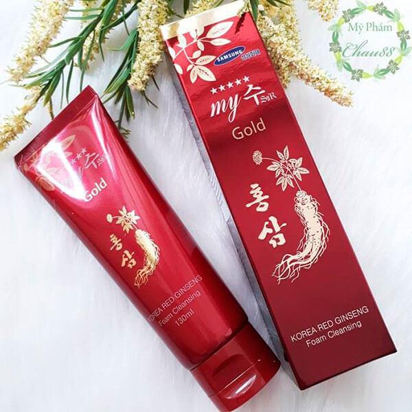 Sữa rửa mặt sâm đỏ Hàn Quốc - korea red ginseng