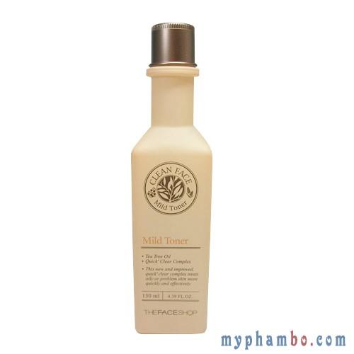 Nước hoa hồng da dầu Clean Face Mild Toner
