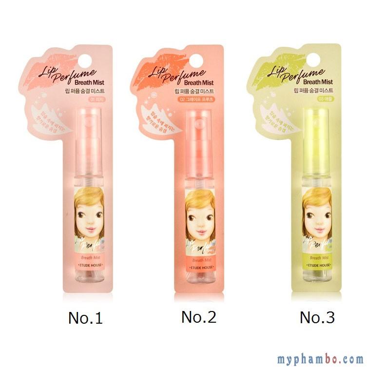 Xịt thơm miệng chống khuẩn Etude Lip Perfume Breath MistXịt thơm miệng chống khuẩn Etude Lip Perfume Breath Mist