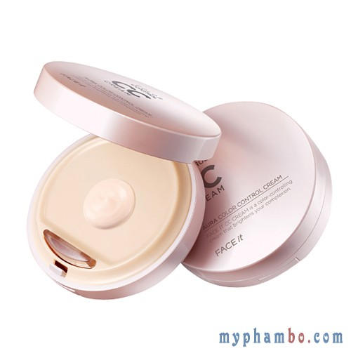 Kem nen CC cream Aura Color Control cua The Face Shop (2)