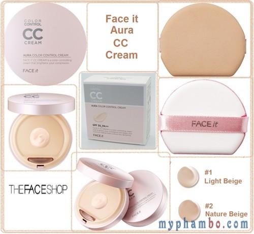 Kem nen CC cream Aura Color Control cua The Face Shop (3)