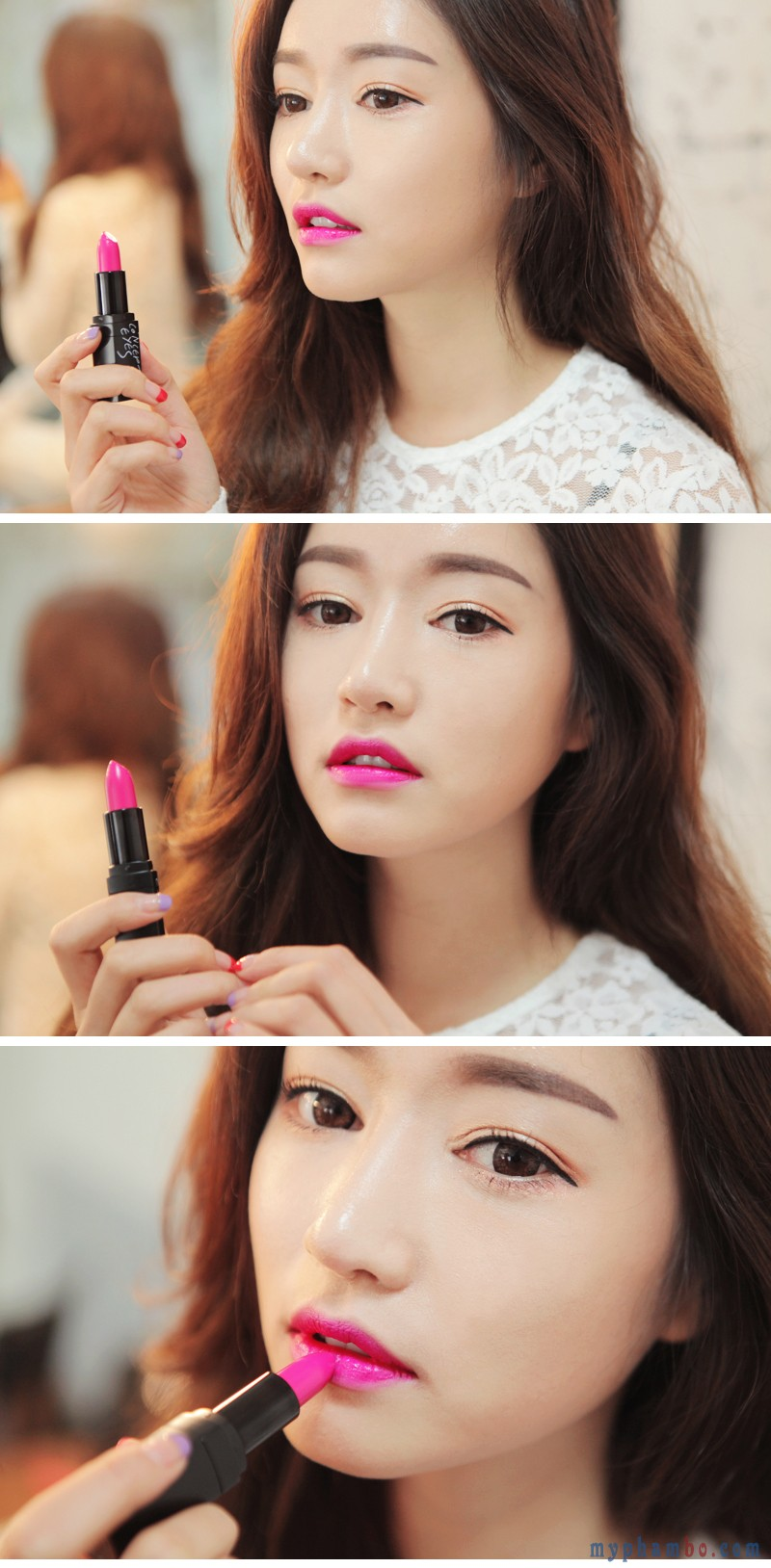 3 Concept Eyes Lip Color #308 Pink Jam