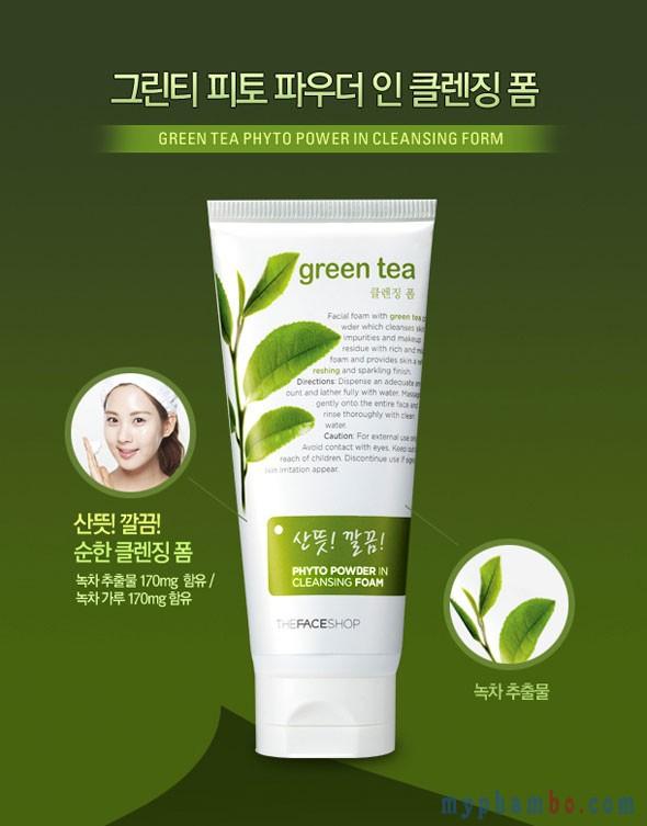 Sữa rửa mặt Green-Tea TheFaceShop