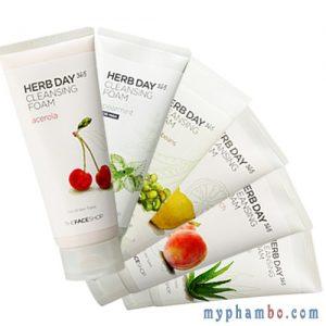 Sữa rửa mặt herb day 365 cleasing foam – The Face Shop