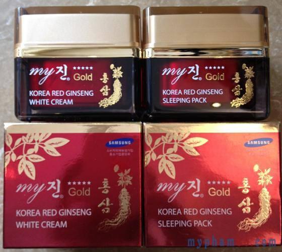 Kem Dưỡng Da Hồng Sâm My Gold Hàn Quốc (Đỏ)