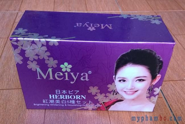Mỹ phẩm trị nám tàn nhang dưỡng trắng da Meiya 2in1