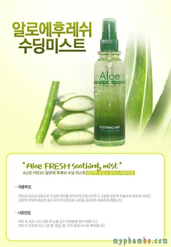 Xit khoang lo hoi Aloe Fresh Soothing Mist