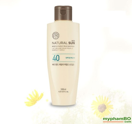 Kem chng nng toàn thon the face shop Natural Sun body & family mild UPF40 (3)