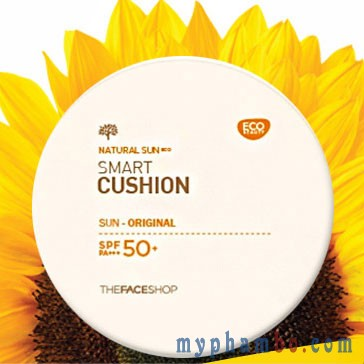 Kem chong nang Smart Cushion The Face Shop Sun Cover SPF 50+++ (2)
