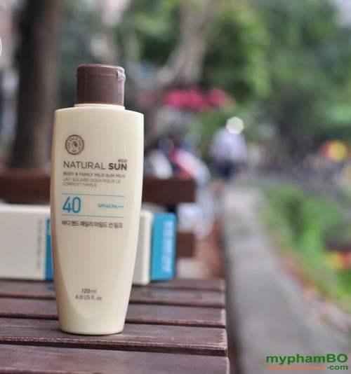 Kem chong nang toan than the face shop Natural Sun body & family mild UPF40 (4)