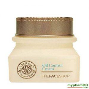 Kem duong danh cho da dau va mun Clean Face Oil Free Control Cream The Face Shop (4)
