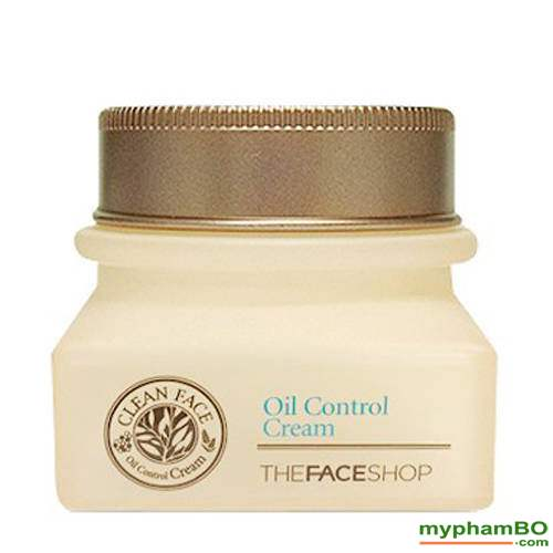 Kem duong danh cho da dau va mun Clean Face Oil Free Control Cream The Face Shop (4)