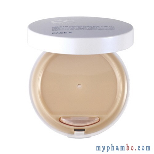 Kem nen kiem dau CC Cream the face shop - Aqua Uv Color Control Cream (2)