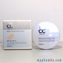 Kem nen kiem dau CC Cream the face shop - Aqua Uv Color Control Cream (4)