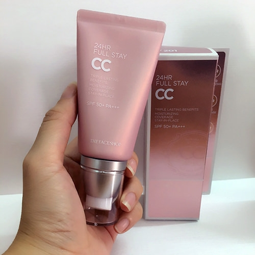 Phan nuoc CC Cream Full Stay 24HR The Face Shop SPF50+ PA+++ (3)