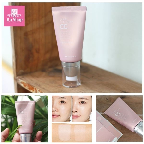 Phan nuoc CC Cream Full Stay 24HR The Face Shop SPF50+ PA+++ (5)