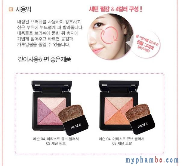 han ma hong Lesson 04 Artist Cube Blusher - The Face Shop (3)