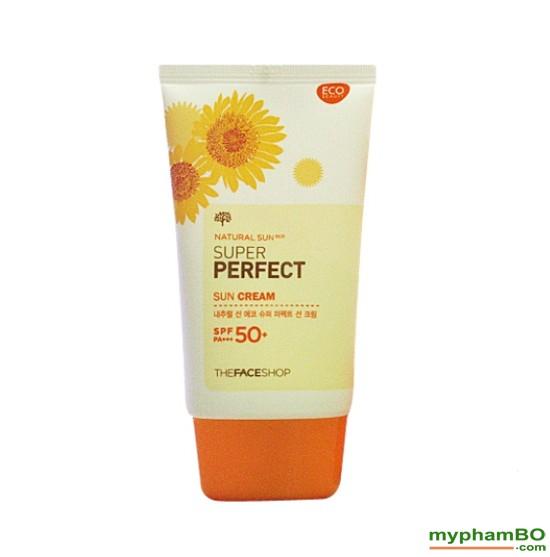 Kem Chng Nng The Face Shop Natural Sun Eco SUPER PERFECT Sun Cream 50 SPFFPS PA (1)(1)