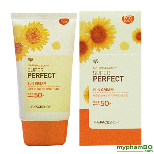 Kem Chng Nng The Face Shop Natural Sun Eco SUPER PERFECT Sun Cream 50 SPFFPS PA (2)