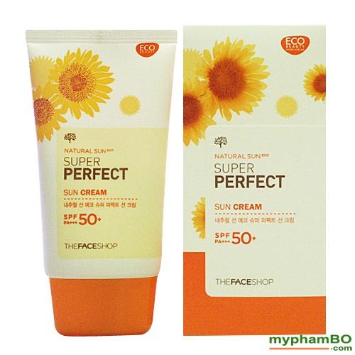 Kem Chng Nng The Face Shop Natural Sun Eco SUPER PERFECT Sun Cream 50 SPFFPS PA (2)