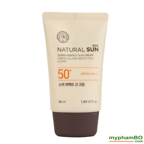 Kem Chng Nng The Face Shop Natural Sun Eco SUPER PERFECT Sun Cream SPF50 PA (1)(2)