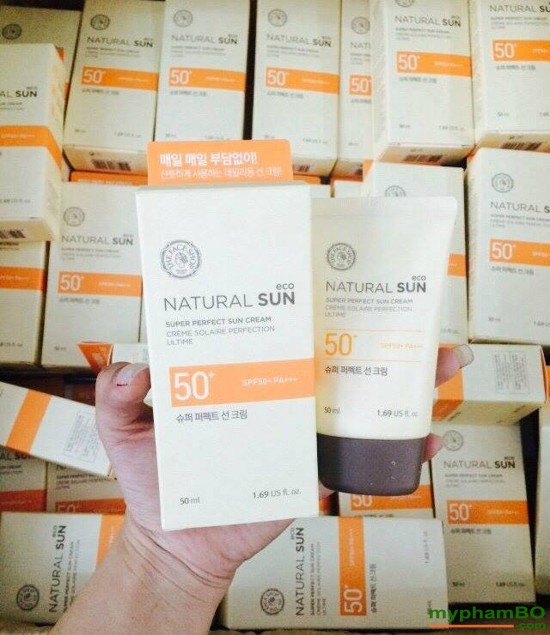 Kem Chng Nng The Face Shop Natural Sun Eco SUPER PERFECT Sun Cream SPF50 PA (6)