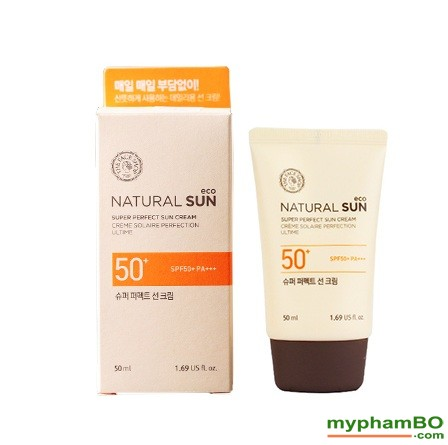 Kem Chng Nng The Face Shop Natural Sun Eco SUPER PERFECT Sun Cream SPF50 PA111