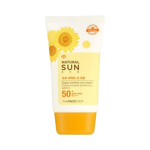 Kem Chong Nang The Face Shop Natural Sun Eco SUPER PERFECT Sun Cream 50 SPFFPS PA+++ (1)
