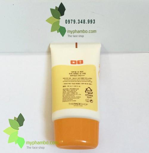 Kem Chong Nang The Face Shop Natural Sun Eco SUPER PERFECT Sun Cream 50 SPFFPS PA+++ (5)