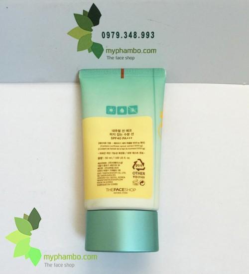 Kem chong nang The Face Shop Sebum Control Moisture Sun - Kiem soat ba nhon Natural Sun ECO (5)