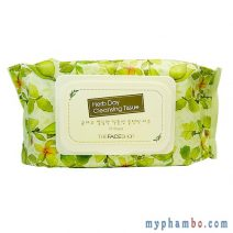 Khan uot tay trang Thefaceshop - Herbday cleansing tissue (1)
