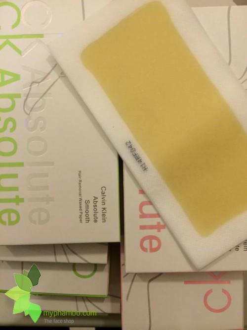 Mieng dan tay long CK Absolute hair remover waxed paper (1)