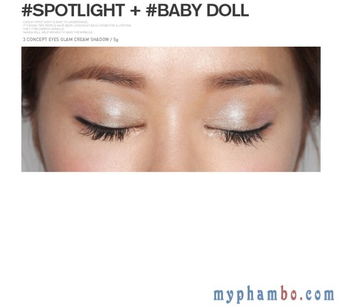 Phan mat dang nen Glam Cream Shadow Spotlight (2)