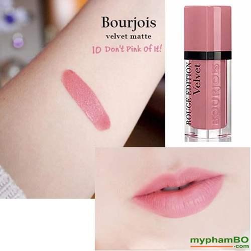 Son Li Dang Nuoc Bourjois Rouge Edition Velvet mau 10