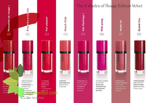 Son Li Dang Nuoc Bourjois Rouge Edition Velvet