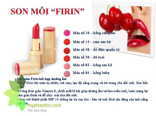 Son moi FIRIN professional cua nga - easily smearing quality lipstick (1)
