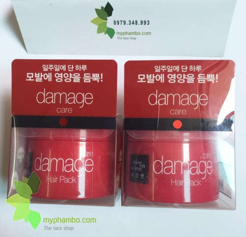 Kem U Toc Mise En Scene Damage Care Hair Pack - Han quoc (2)