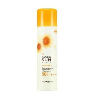 Kem-chng-nng-dng-xt-Natural-Sun-eco-cooling-spray-the-face-shop