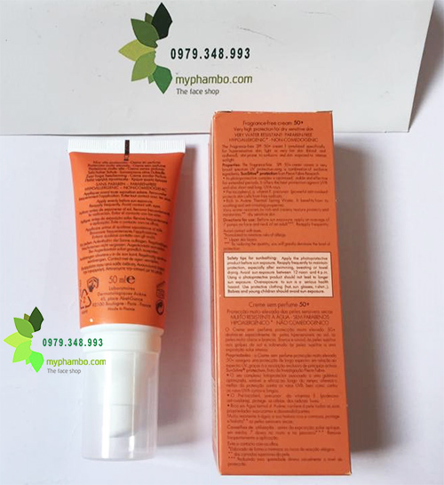 Kem chong nang Avene Very High Protection Cream SPF50+ 50ml - Phap (4)