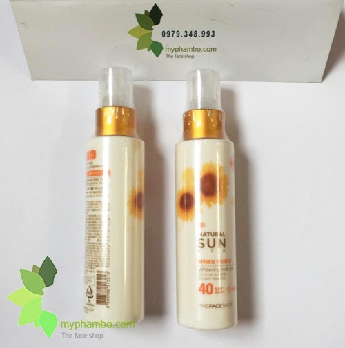 Kem chong nang trang da dang xit Natural Sun ECO Whitening The face shop (2)