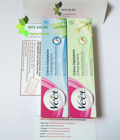 Kem tay long VEET cua phap 200ml - Cream Depilatoire (2)