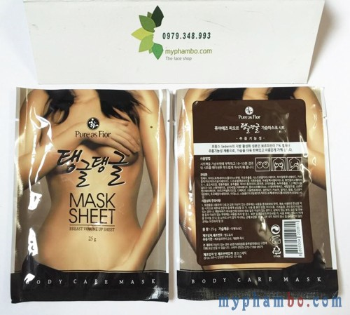 Mieng dan no nguc Pure As Fior Mask sheet - Han quoc (7)