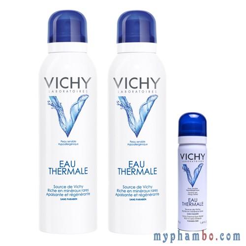 Nuoc xit khoang duong da Vichy Eau Thermal 50ml - Phap (3)