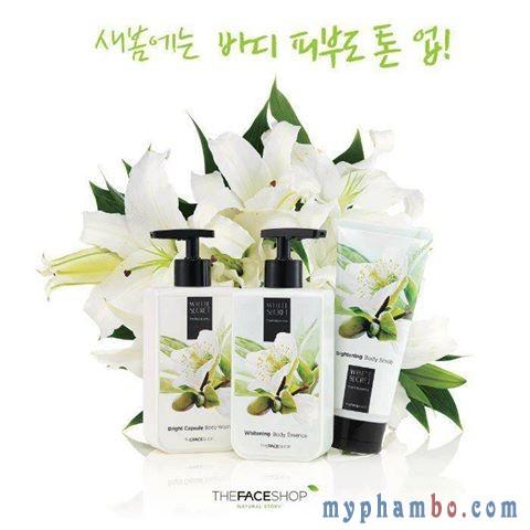 Tay Da Chet Toan Than White Secret Brightening Body Scrub - The Face Shop (5)