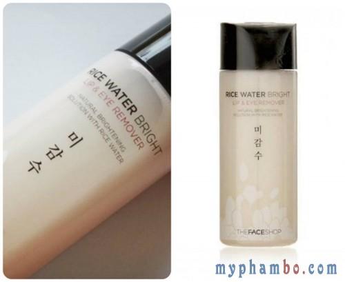 Tay trang mat moi Rice Water Bright Lip & Eye Remover gao (5)