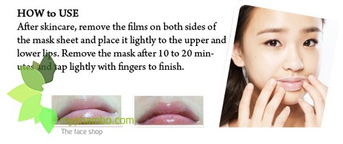 Mat na moi lovely MEEX bebe lip mask - the face shop (3)