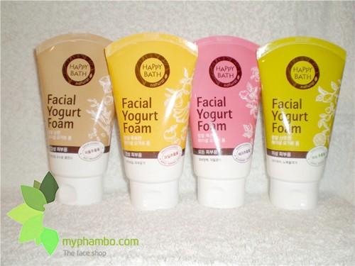 Sua Rua Mat Happy Bath Natural Facial Yogurt Cleansing Foam - Han quoc (1)