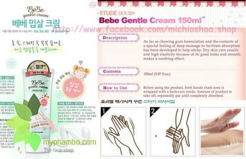 Kem Duong The Dac Tri Viem Lo Chan Long BeBe Gentle Cream - Etude House (3)