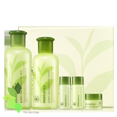 Bo duong tra xanh Innisfree Green Tea Balancing Special Skin Care Set - Han quoc (1)(1)